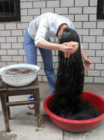 världens längsta hår